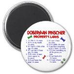 DOBERMAN PINSCHER Property Laws 2 6 Cm Round Magnet