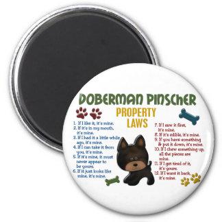 Doberman Pinscher Property Laws 4 Magnet