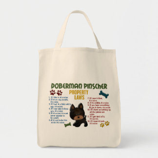 Doberman Pinscher Property Laws 4 Tote Bag