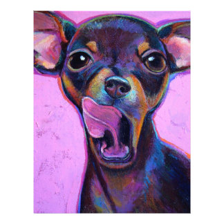 Doberman Pinscher Pup by Robert Phelps 21.5 Cm X 28 Cm Flyer