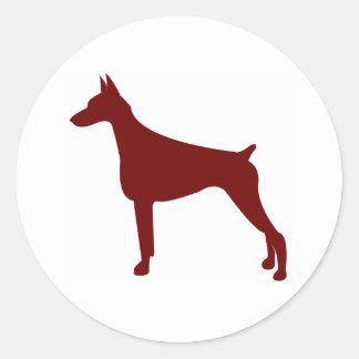 Doberman Pinscher (Red) Classic Round Sticker