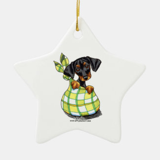 Doberman Pinscher Sack Puppy Christmas Ornament