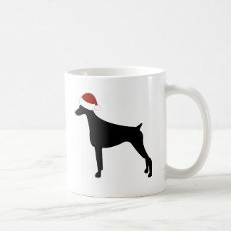 Doberman Pinscher Santa Hat Coffee Mug