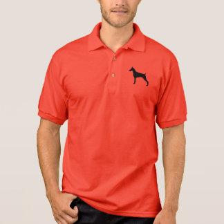 Doberman Pinscher Silhouette Polo Shirt
