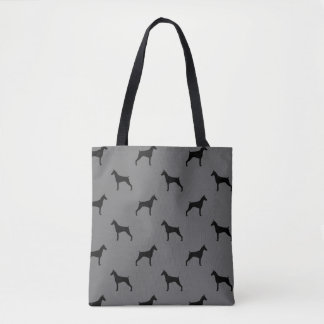 Doberman Pinscher Silhouettes Pattern Tote Bag