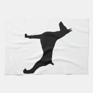 doberman pinscher silo black.png tea towel