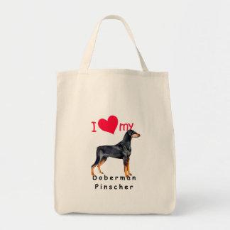 Doberman Pinscher Grocery Tote Bag
