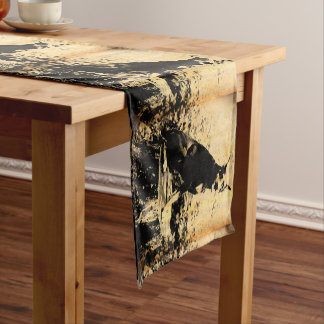 Doberman Pinscher Vintage Old Photo Short Table Runner