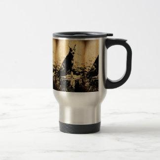 Doberman Pinscher Vintage Old Photo Travel Mug