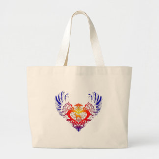 Doberman Pinscher Winged Heart Large Tote Bag
