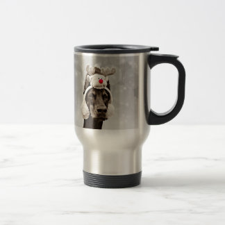 Doberman Pinscher winter portrait Travel Mug