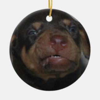 Doberman Puppy Christmas Ornament