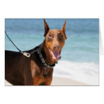 Doberman - Red - Bad to the Bone Stationery Note Card