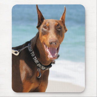 Doberman - Red - Bad to the Bone Mouse Mat