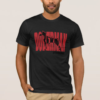 Doberman Silhouette, stacked T-Shirt
