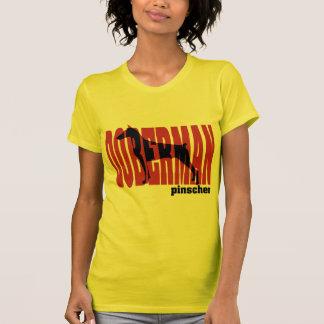 Doberman Silhouette, stacked Tee Shirts