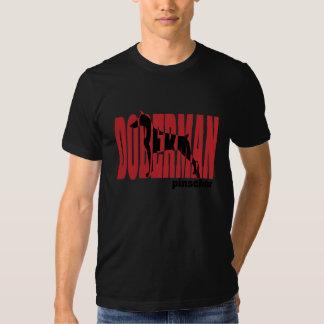 Doberman Silhouette, stacked Tshirt
