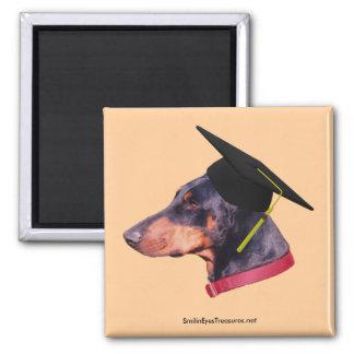 Doberman The Graduate Dog Photo Funny Magnet