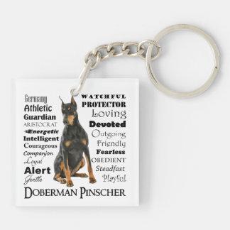 Doberman Traits Keychain