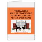 doberman trespasser card