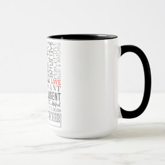 Doberman Word Art Mug