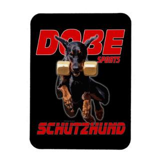 Dobermann Pinscher schutzhund jump magnet