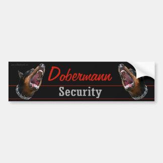 Dobermann Security sticker Bumper Sticker