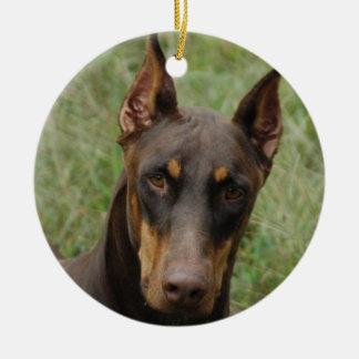 Dobermans Christmas Ornament
