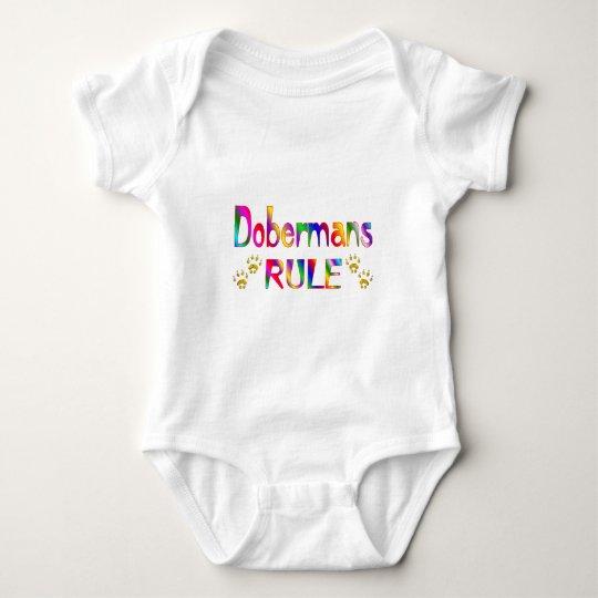Dobermans Rule Baby Bodysuit