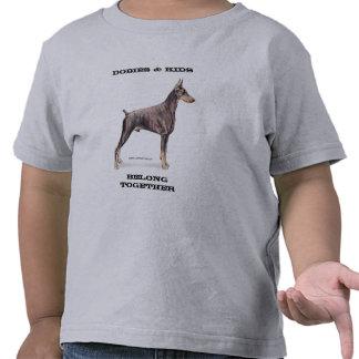 Dobies & Kids -- Doberman Pinscher Tee Shirt