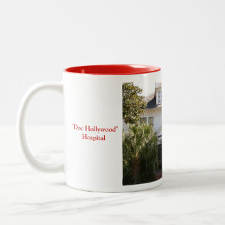 """Doc Hollywood"" Hospital location Two-Tone Mug"