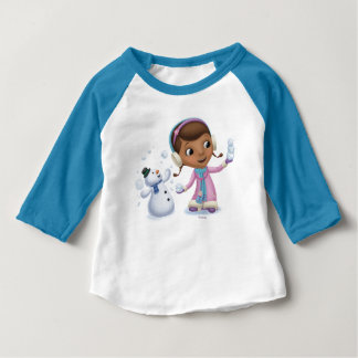 Doc McStuffins   Doc And Chilly Playing In Snow Baby T-Shirt