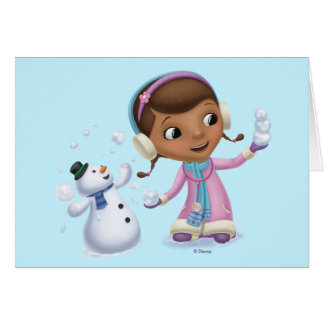 Doc McStuffins | Doc And Chilly Playing In  Snow Card