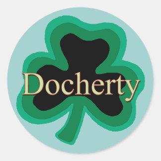 Docherty Family Round Sticker