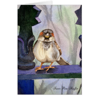 Docile Sparrow Note Card