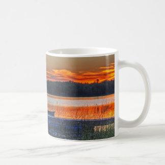 Dock and Rowboat Sunset Mug