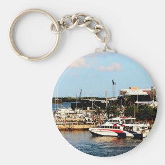 Dock at King's Wharf Bermuda Key Ring