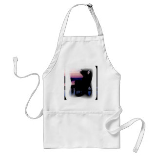 Dock at Sunset posterized Adult Apron