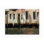 Docked Boats in Venice Postcard