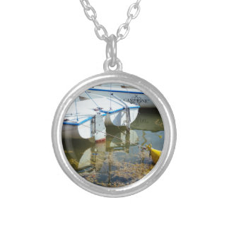 Docked Boats In Water Nautical Photography Pendant