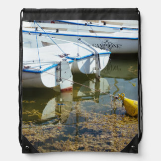 Docked Boats In Water Nautical Photography Cinch Bag