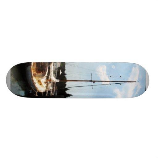 Docked Cabin Cruiser Custom Skate Board