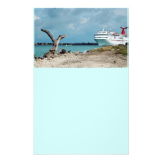 docked cruise shiop 14 cm x 21.5 cm flyer