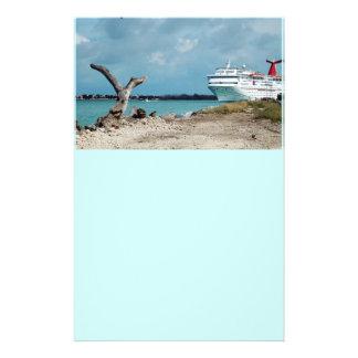 docked cruise shiop flyers