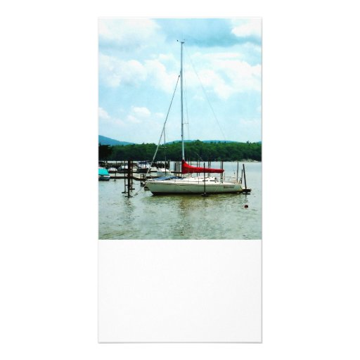 Docked on the Hudson River Personalized Photo Card