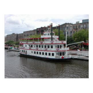 Docked Riverboat Savannah Georgia Postcard
