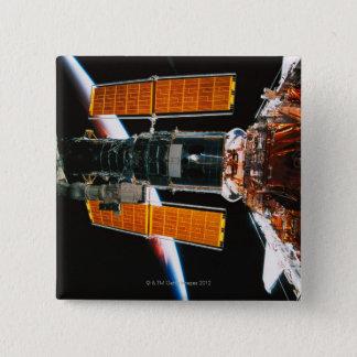 Docked Satellite 15 Cm Square Badge