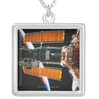 Docked Satellite Silver Plated Necklace