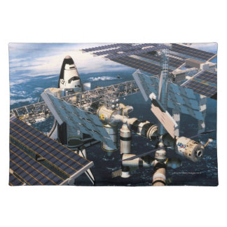 Docked Space Shuttle Placemat