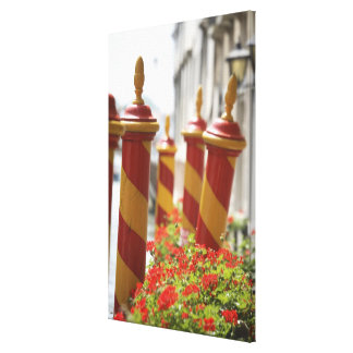 Docking Poles on Canal in Venice Canvas Print